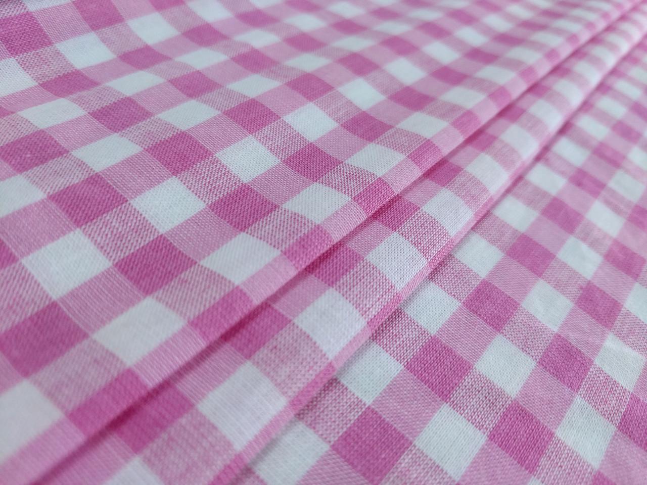 Коттон клеточка 7 мм, розовый