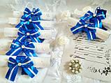 Пригласительные на свадьбу в свитках Бант (сине-белые), фото 4