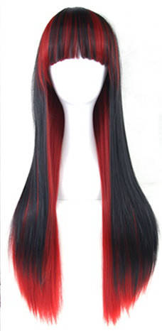 Длинные парики - 70см, прямые волосы, косплей, анимэ, огненные, фото 2