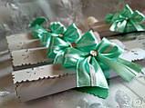 Пригласительные на свадьбу в свитках Бант (мятно-белые), фото 4