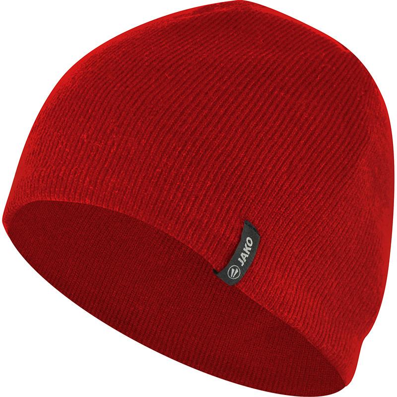 Вязаная шапка JAKO (красная)