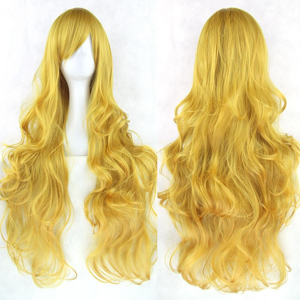Довгі перуки - 80см, золоті хвилясте волосся, косплей, аніме