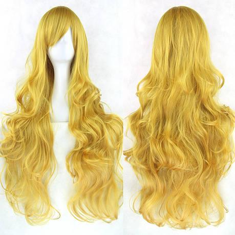 Длинные парики - 80см, золотые волнистые волосы, косплей, анимэ, фото 2