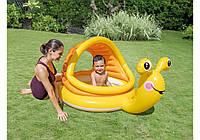 Детский надувной бассейн Интекс, Игровой центр Улитка, Intex 57124 (145х102х74 см), 53 л.