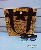Пляжная сумка плетеная, фото 1