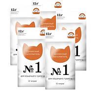 Collar древесный наполнитель №1 для кошачьего туалета 12л, 5 упаковок