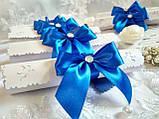 Пригласительные на свадьбу в свитках Бант (синие), фото 2