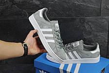 Кроссовки мужские Adidas Cumpus замшевые,серые, фото 3