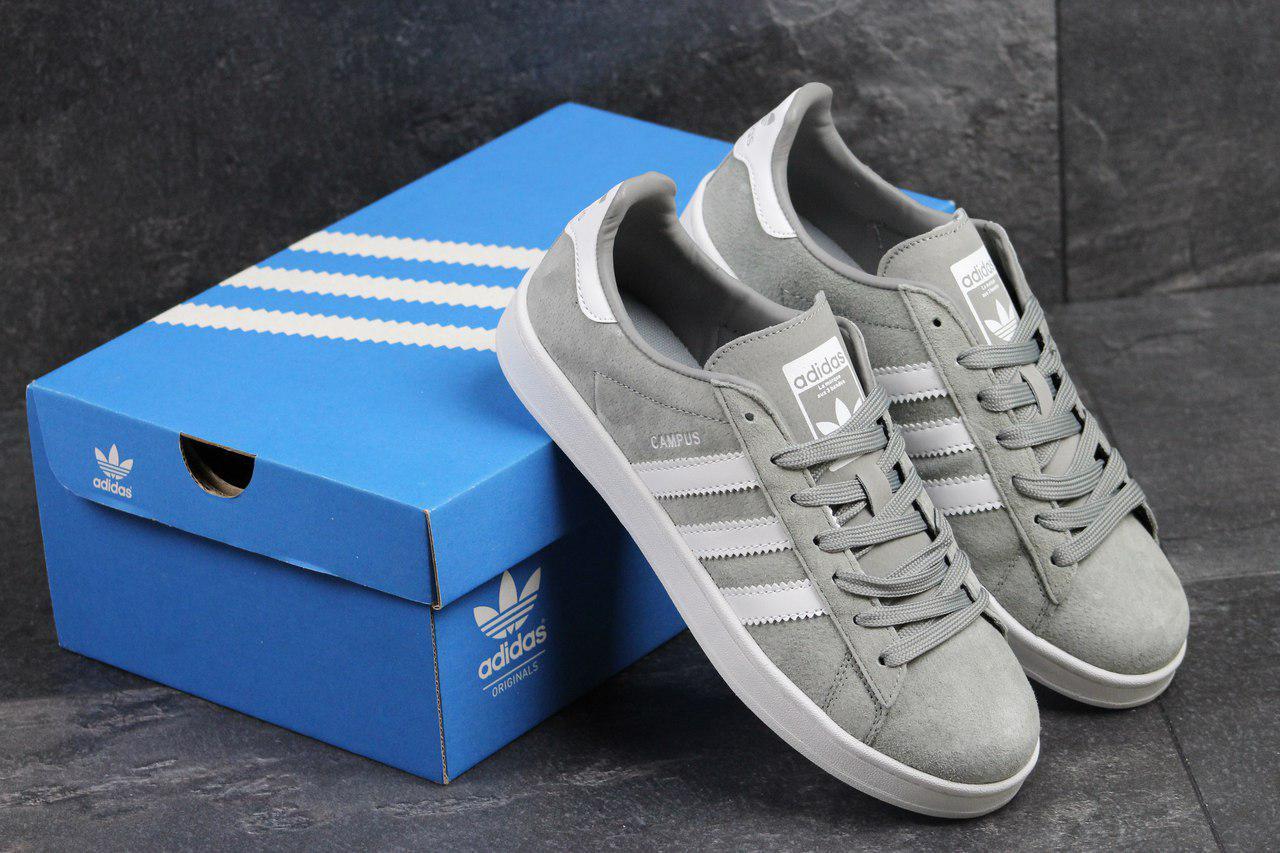 Кроссовки мужские Adidas Cumpus замшевые,серые