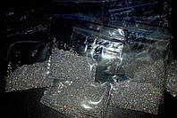 Бульонки стекло, голографические, в зип-пакете