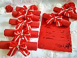 Пригласительные на свадьбу в свитках Bow (красно-белые), фото 4