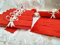 Свадебные пригласительные в свитках Tenderness (красные)
