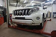 Защита переднего бампера Toyota Land Cruiser 150 (2013-2017) (двойная) d 76/60