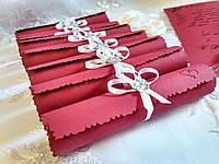 Свадебные пригласительные в свитках Tenderness (марсала)