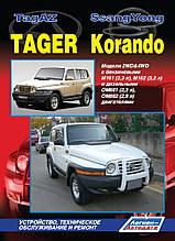 SSANGYONG KORANDO  TAGAZ TAGER   Модели 2WD & 4WD  Руководство по ремонту и техническому обслуживанию