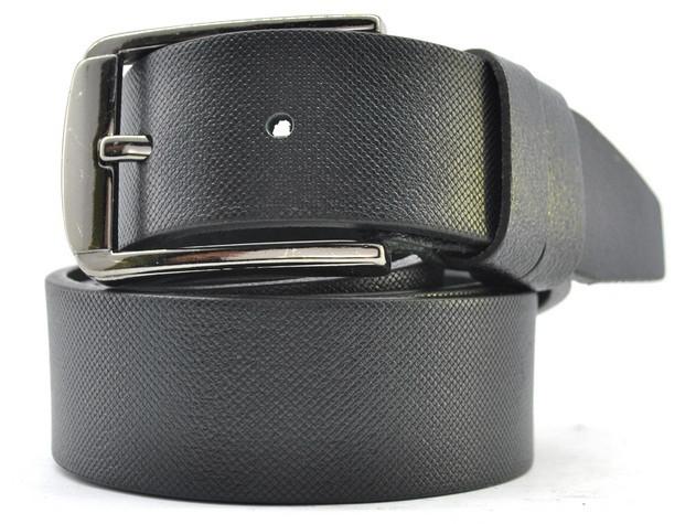 Мужской ремень Белстор t0080 35 мм кожаный черный