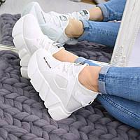 """Кроссовки, кеды, мокасины на платформе """"Balenciaga"""" белые, текстиль, повседневная, спортивная, удобная обувь"""