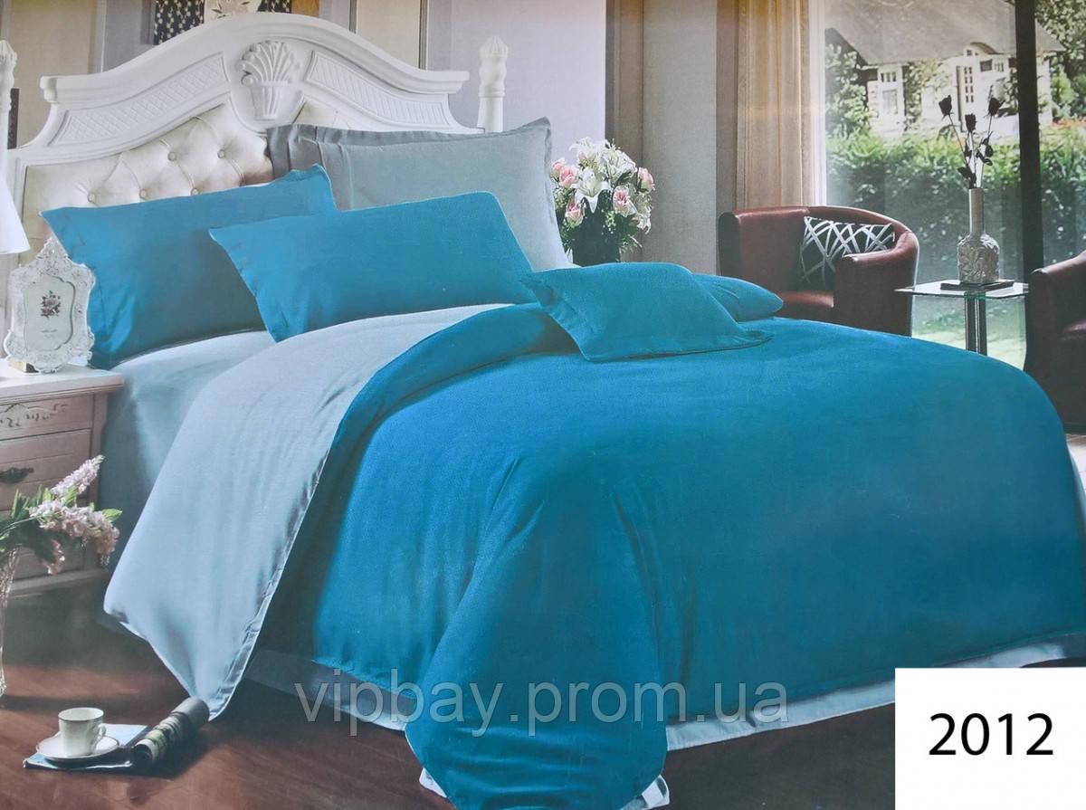 Комплект постельного белья однотонный Двуспальный Евро Поликоттон Moda