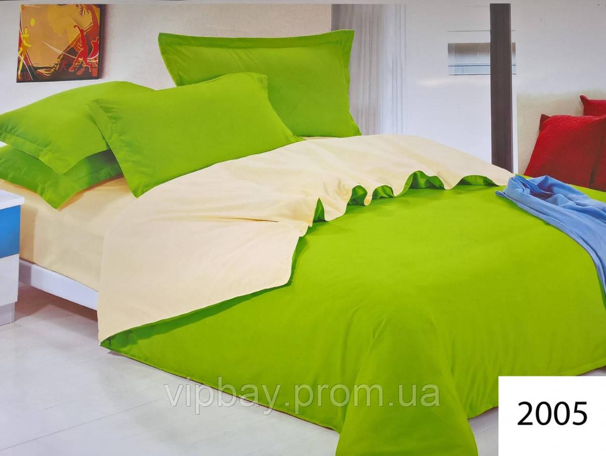 Комплект постельного белья однотонный Двуспальный Поликоттон Moda 2005