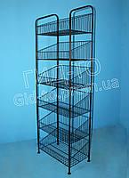 Стеллаж Колосок 60 черный, фото 1