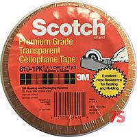 3M Scotch 610 - Целлофановая лента-скотч односторонняя 19х0,058 мм, рулон 66 м