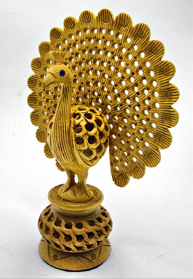 Статуэтка Павлин деревянный резной