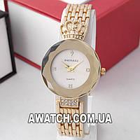 Женские кварцевые наручные часы Baosaili B-8115 / Баосаили на металлическом браслете золотистого цвета