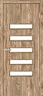 Двери межкомнатные Омис Аккорд 3 экошпон остекленная, цвет дуб Ориндж