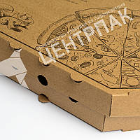 Коробка для пиццы 300*300*35 мм бурая