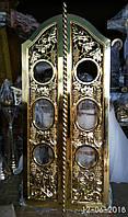 Царские Врата с виноградом и позолотой фольгой