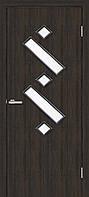 Двери  межкомнатные Омис Танго 2 остекленная экошпон, цвет венге