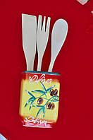 Подставка OLIVA Italiana для кухонных принадлежностей стакан для ложек