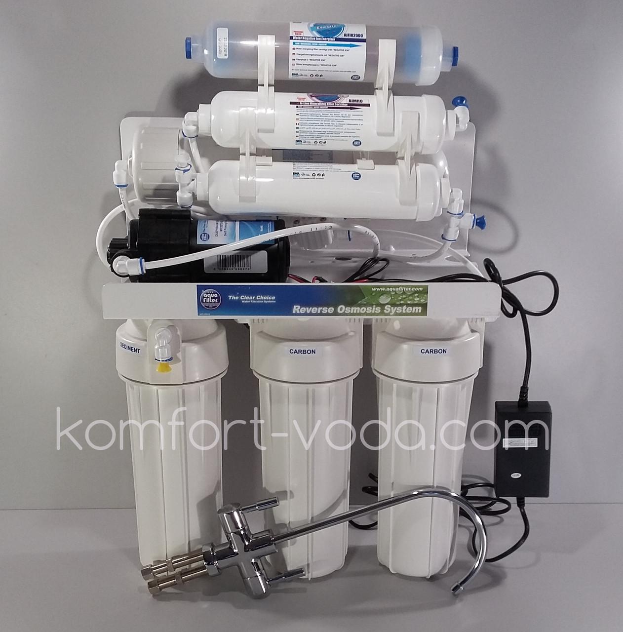 Система обратного осмоса Aquafilter RP-RO7-75 с насосом
