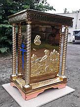 Жертвенник церковный из булата с иконой на дверце