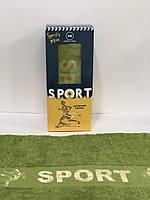 Банное полотенце 70*140 Турция в подарочной коробке Футбол Sport Зеленое