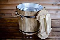 Запарник для веников дубовый 15л с металлической вставкой hotdeal