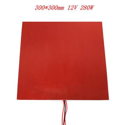 Нагревательный стол (300х300) силиконовый 12V 280Вт, фото 2