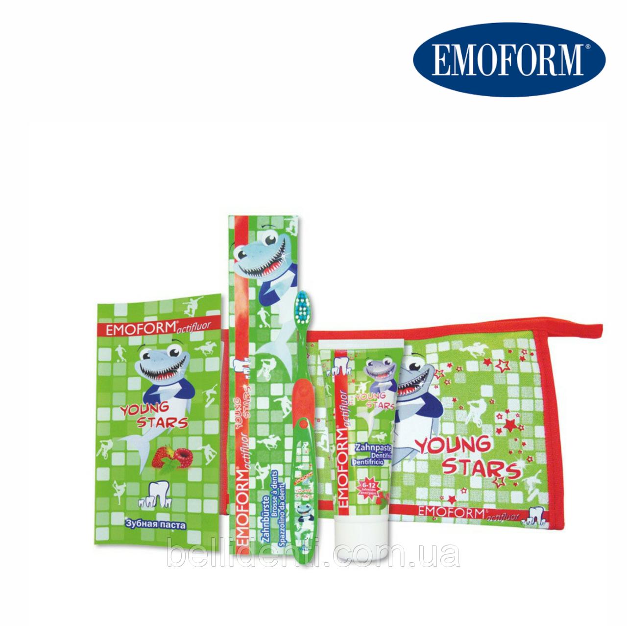 EMOFORM® actifluor YOUNGSTARS Set Детский набор по уходу за зубами (6-12 лет)