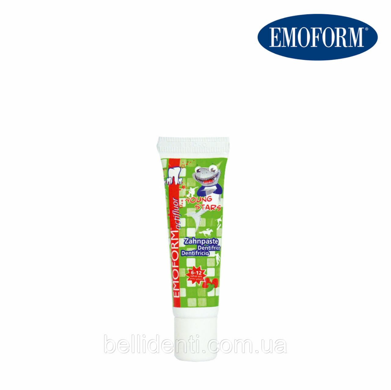 EMOFORM actifluor Youngstars Детская зубная паста (6-12 лет), 12 мл