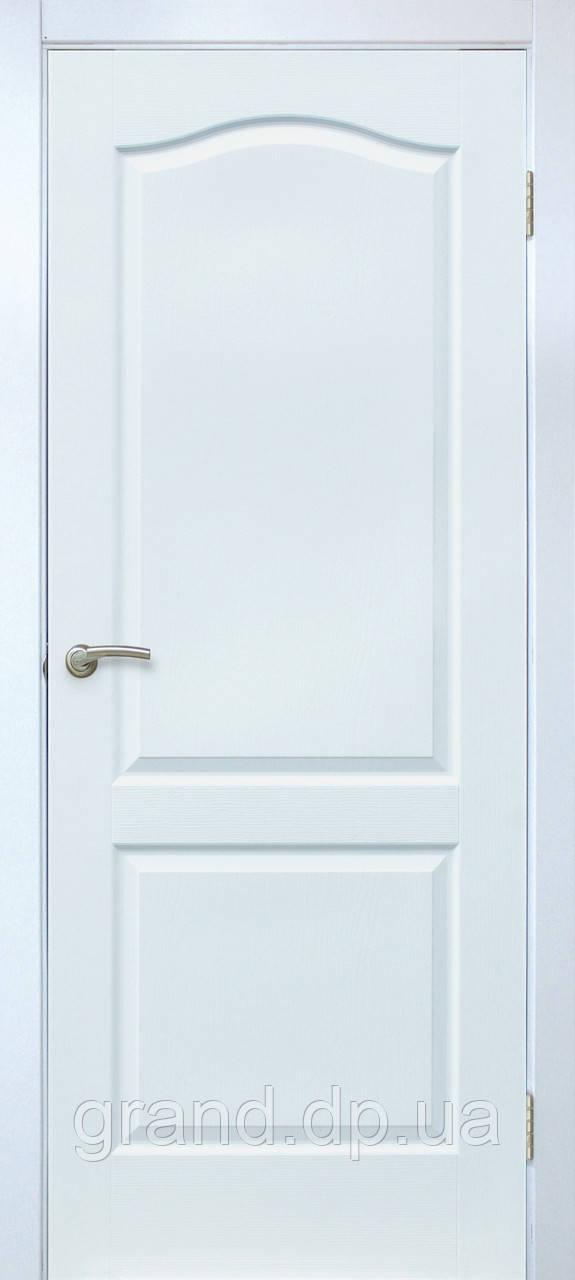 Двери межкомнатные Омис Классика ПГ ПВХ глухая, цвет белый