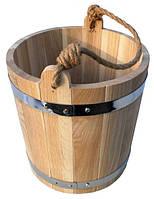 Ведро из дуба для бани 15 литров hotdeal