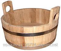 Шайка дубовая для бани и сауны 15 литров.