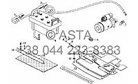 Аккумулятор и кронштейн на YTO X704