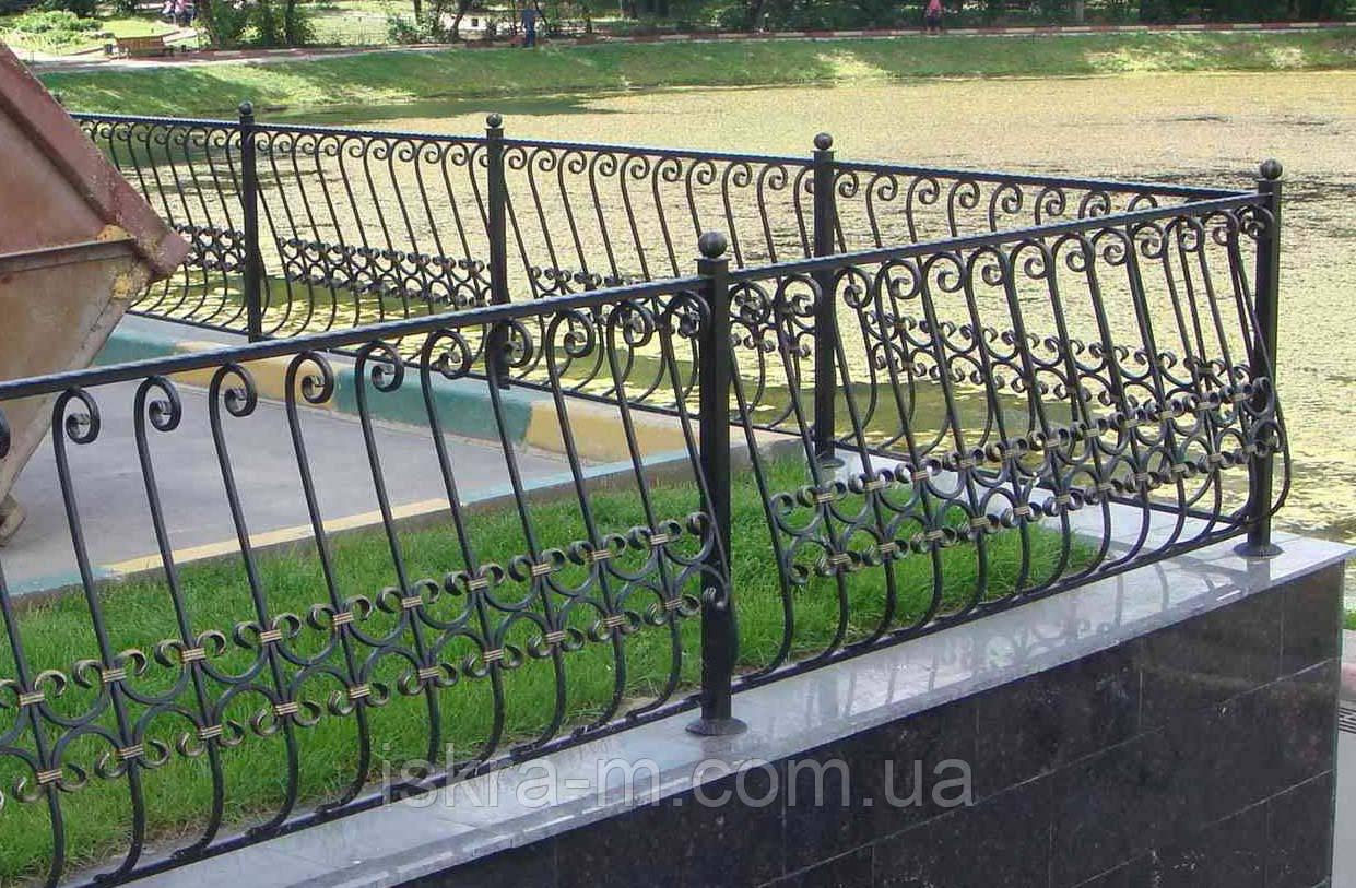 Ограждение балконное кованое
