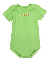 Зеленый бодик с вышивкой I Love Daddy (Размер 0-3 мес) Gymboree (США)