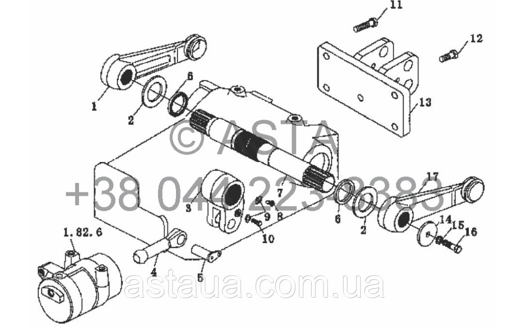 Вал и приводной механизм на YTO X704