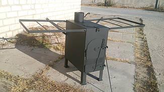 Буржуйка с вар. поверхностью и сушилкой для рабочей одежды, сталь 4мм, фото 2