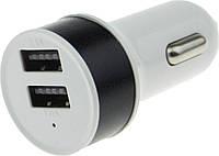 Автомобильное зарядное устройство, Adapter Metal Super Car Charger 2 USB, Универсальный 2-х портовый адаптер