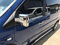 Mercedes Vito W 638 Накладки на зеркала (нерж, 2 шт)