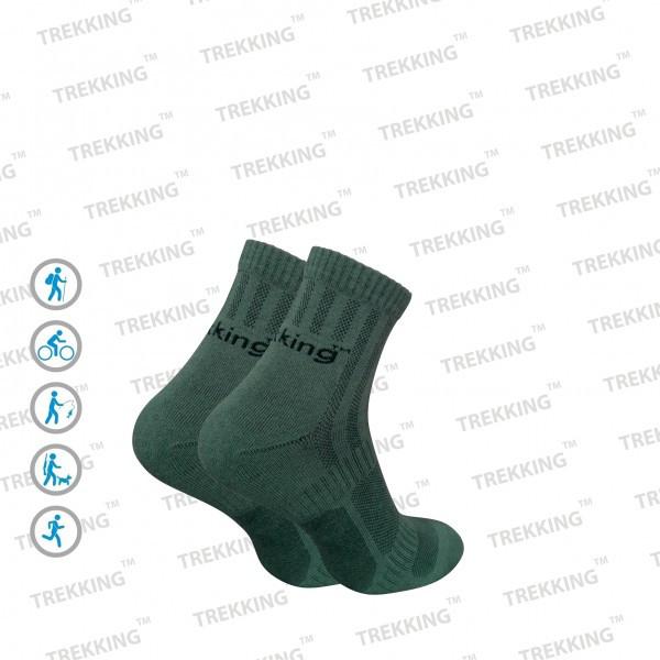 """Трекинговые носки летние ТМ """"Trekking"""" ShortLight зелёные"""